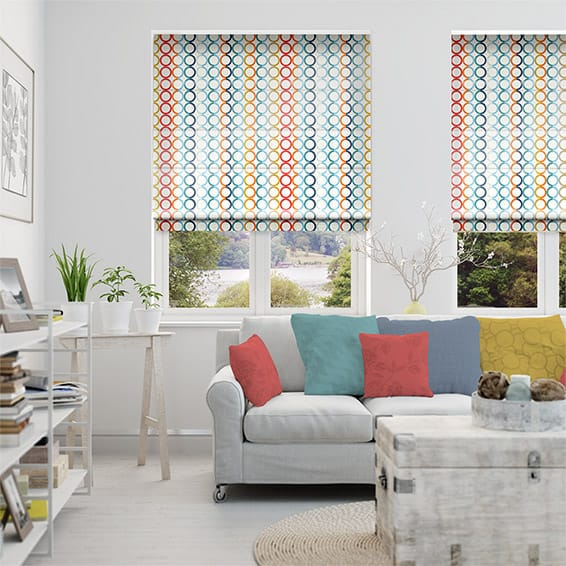 Olympia Faux Silk Prism Roman Blind