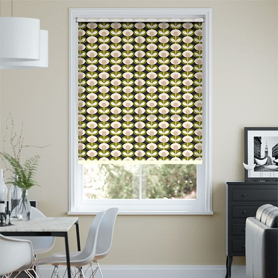 Oval Flower Seagrass Roller Blind