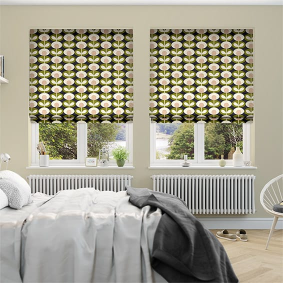 Oval Flower Seagrass Roman Blind