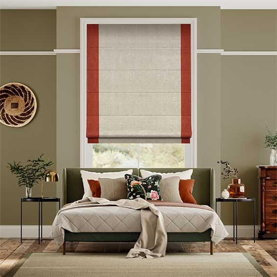 Pacaya Fiery Red Roman Blind