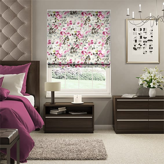 Paeonia Rose Roman Blind