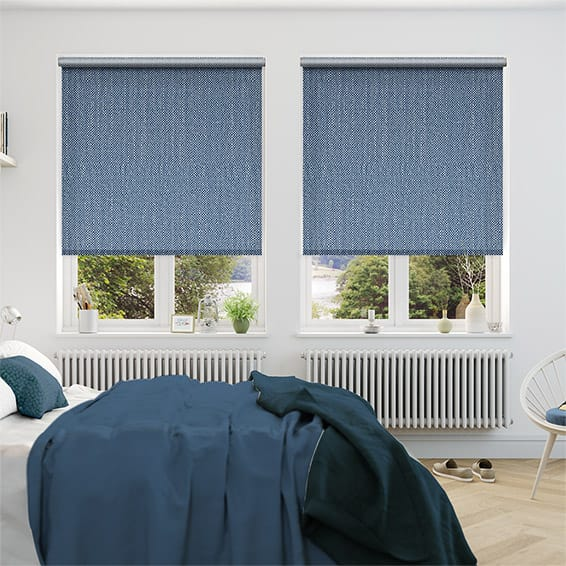 Choices Paleo Linen Persian Blue Roller Blind