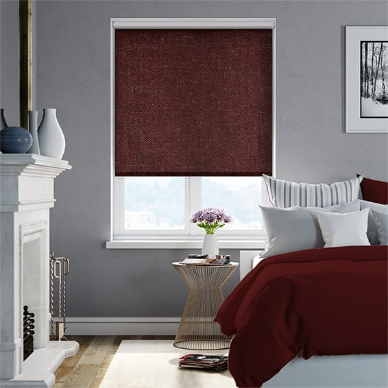 Choices Paleo Linen Pompeii Red Roller Blind