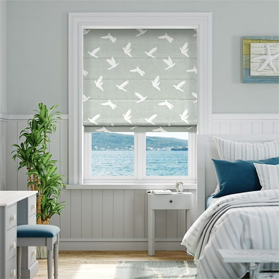 Paper Doves Dove Roman Blind