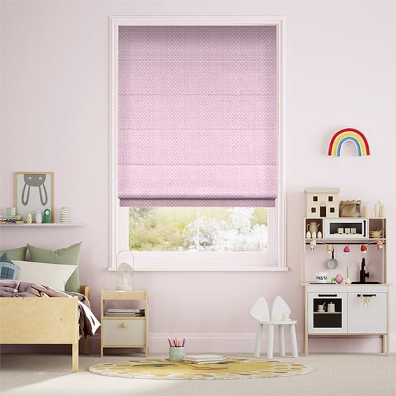 Party Polka Candyfloss Roman Blind