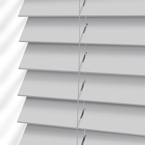 Pearl Grey Wooden Blind 50mm Slat