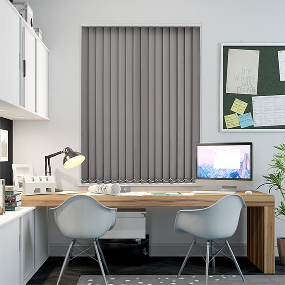 Polemis Charcoal Flame Retardant Vertical Blind