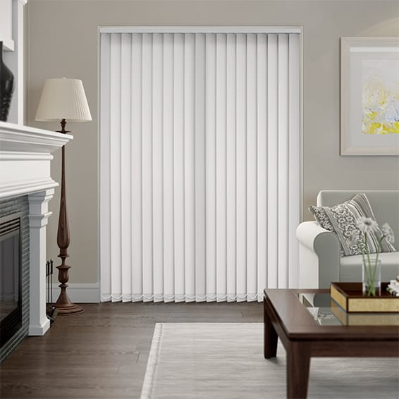 Polemis Dove Flame Retardant Vertical Blind