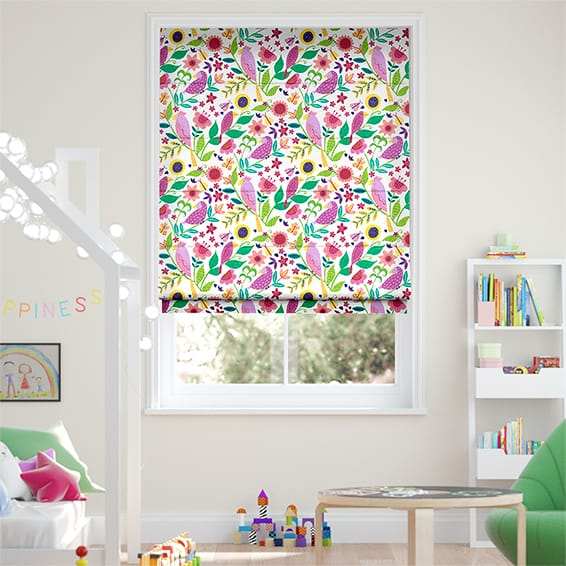 Polly & Friends Berry Roman Blind