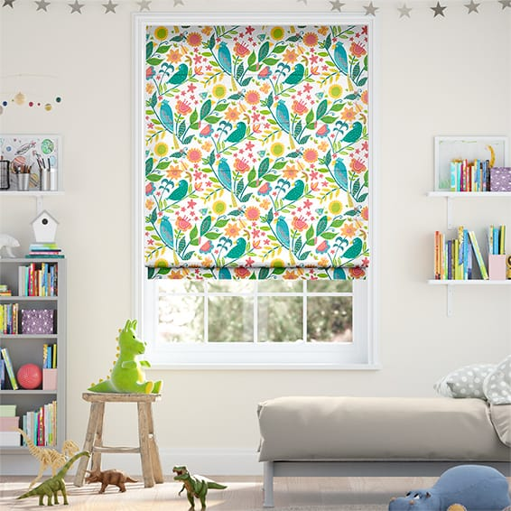 Polly & Friends Tropical Roman Blind