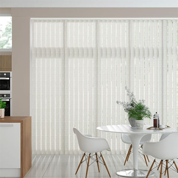 Polygon Gentle White Vertical Blind