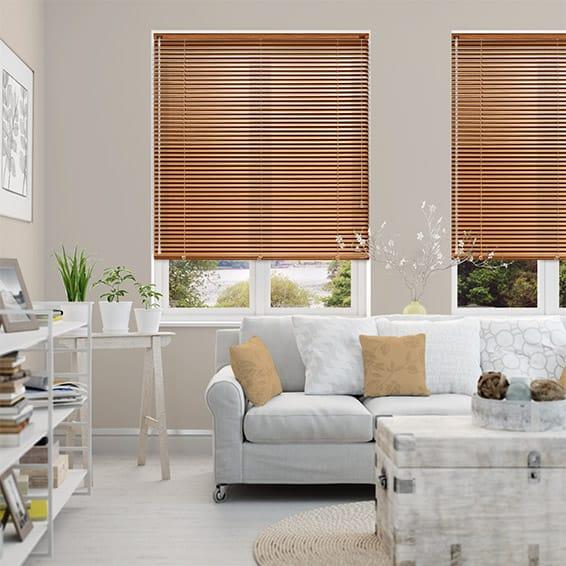 Woodgrain Chestnut Venetian Blind - 25mm Slat