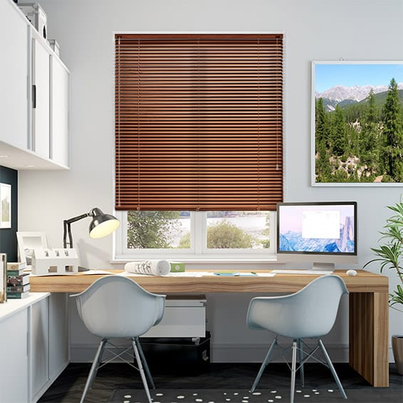 Woodgrain Red Maple Venetian Blind - 25mm Slat