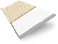 Pure White & Ecru Wooden Blind with Tapes - 50mm Slat slat image