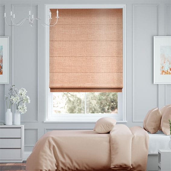 Real Silk Blush  Roman Blind