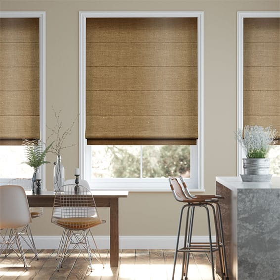 Real Silk True Bronze  Roman Blind