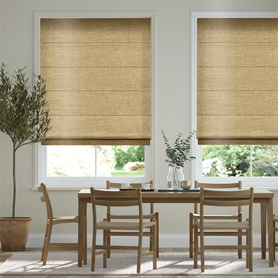 Real Silk True Gold Roman Blind