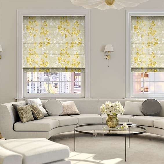 Renaissance Faux Silk Golden Roman Blind