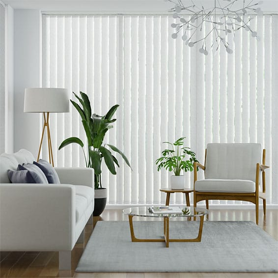 Riband Polar White Vertical Blind