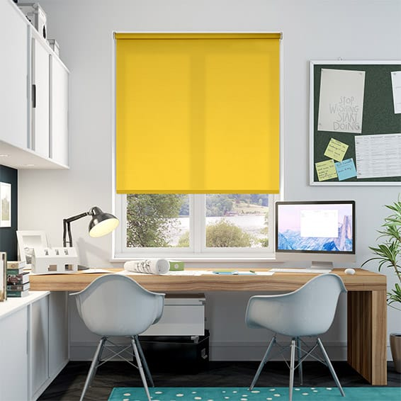 Valencia Neon Yellow Roller Blind