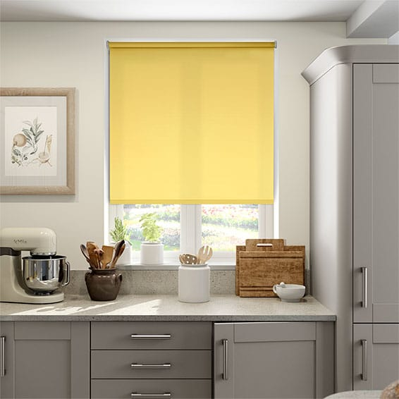 Valencia Pale Yellow Roller Blind