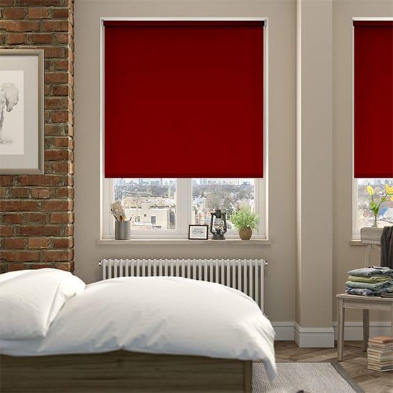 Shop Red Roller Blinds 2go 100 Blackout Bespoke Red