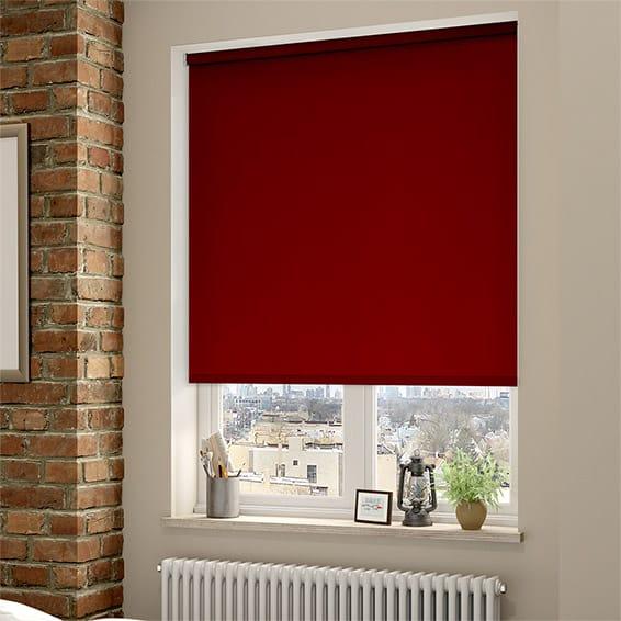 Shop Red Roller Blinds 48go™ 48% Blackout Bespoke Red Roller Blinds Stunning Blackout Bedroom Blinds