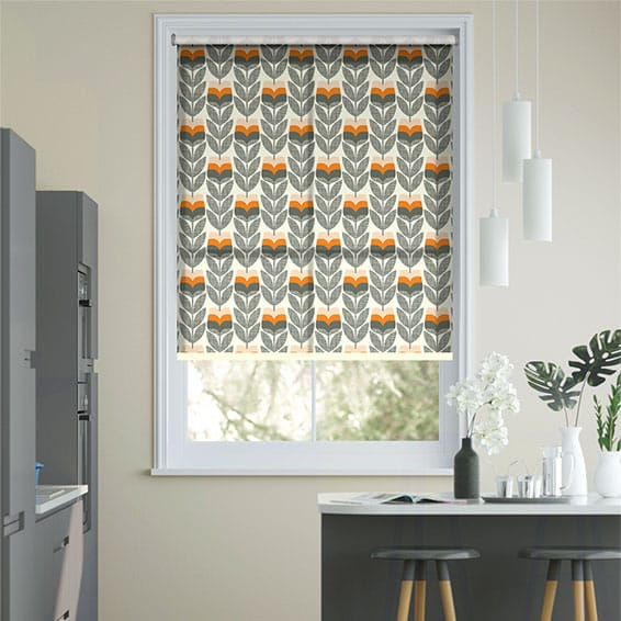 Rosebud Orange Roller Blind