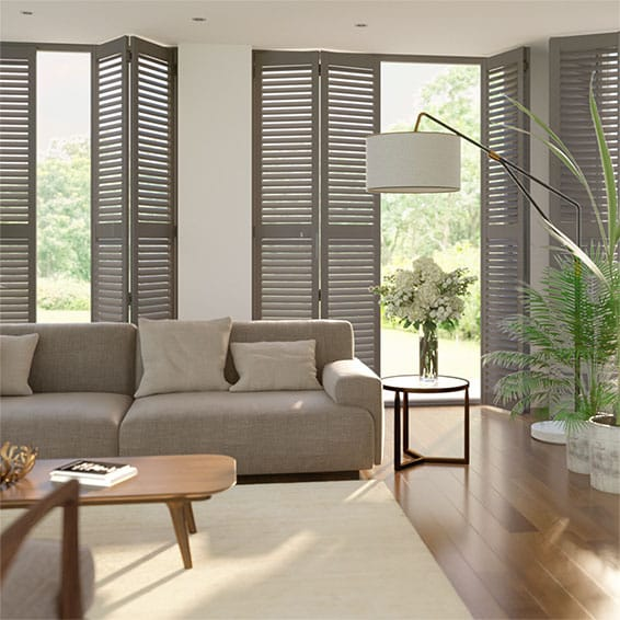 San Jose Premium Ash Grey Shutter Blinds