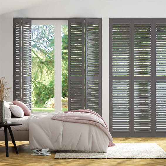 San Jose Premium Asphalt Grey Shutter Blinds