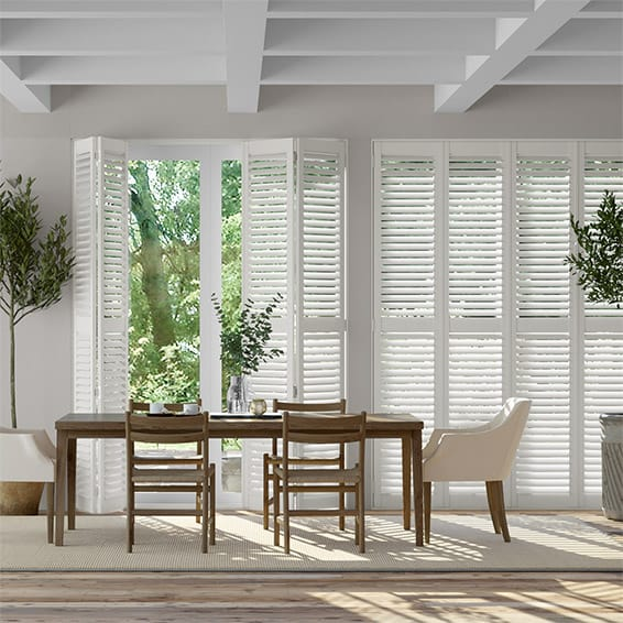 San Jose Premium Cotton White Shutter Blinds