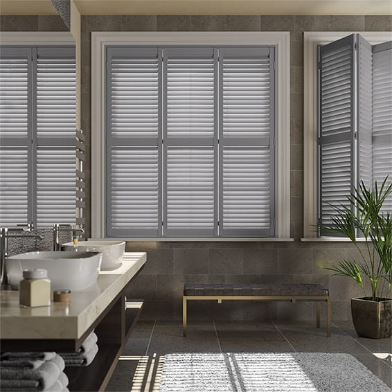 San Jose Premium French Grey Shutter Blinds