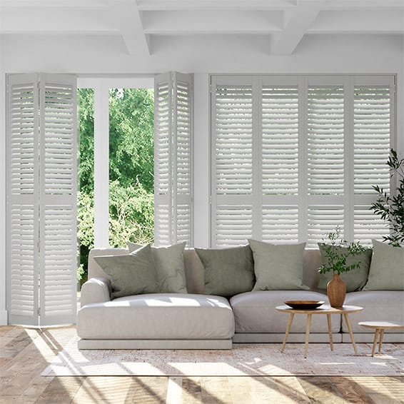 San Jose Premium Hazy Grey Shutter Blinds