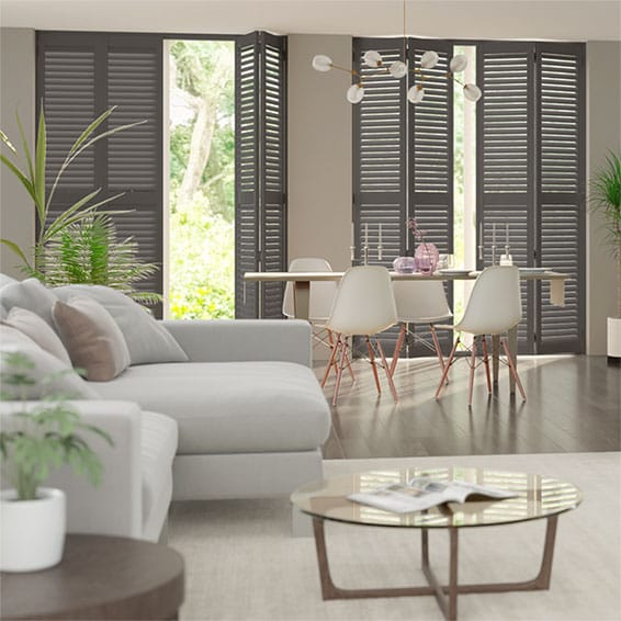 San Jose Premium Shadow Grey Shutter Blinds