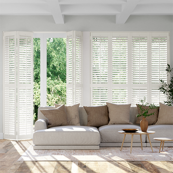 Mayfair Pure White Shutter Blinds