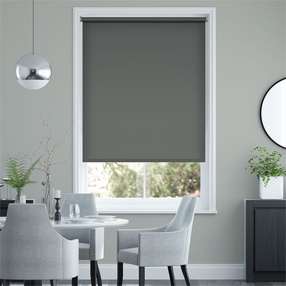 Santiago Blackout Anchor Grey Roller Blind