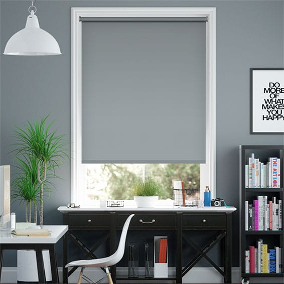Santiago Blackout Bluegrey Roller Blind