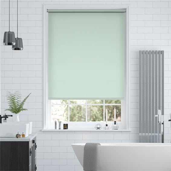 Santiago Blackout Celeste Blue Roller Blind