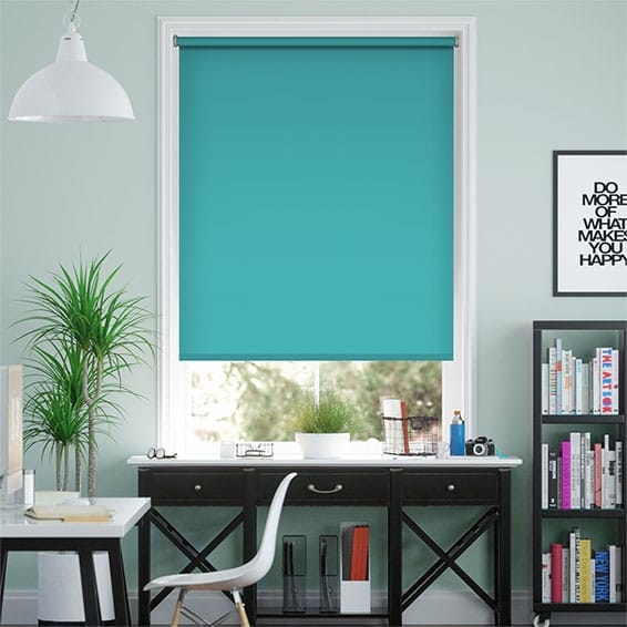 Santiago Blackout Electric Blue Roller Blind