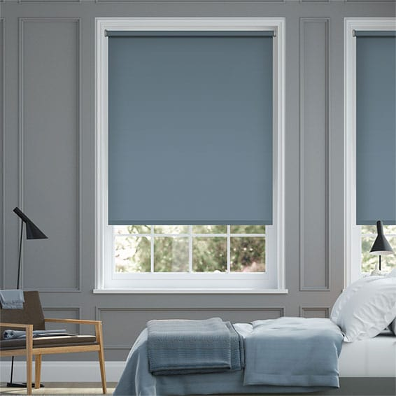 Santiago Blackout Endless Blue Roller Blind