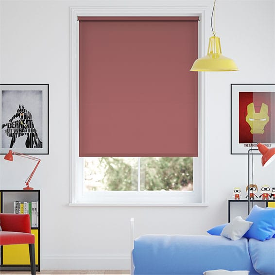Santiago Habanero Red Blackout Roller Blind