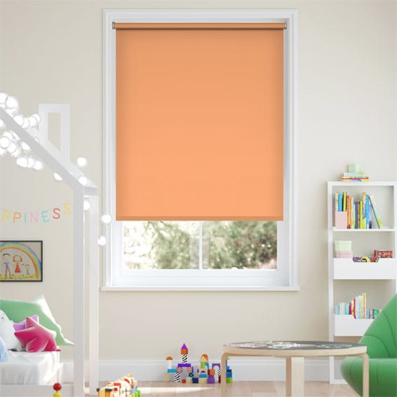 Santiago Papaya Blackout Roller Blind