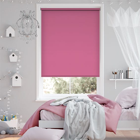 Santiago Passion Pink Blackout Roller Blind