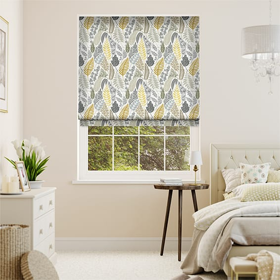 Scandi Ferns Linen Summer Roman Blind