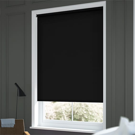Superior Sevilla Tranquility Black Blackout Roller Blind