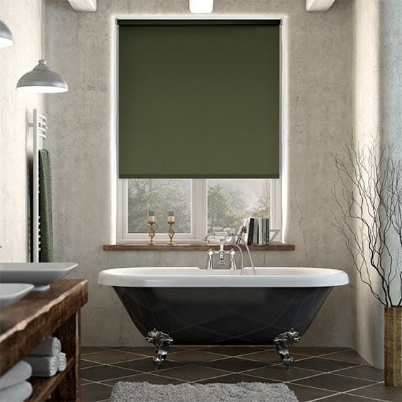 Sevilla Forest Green Blackout Roller Blind