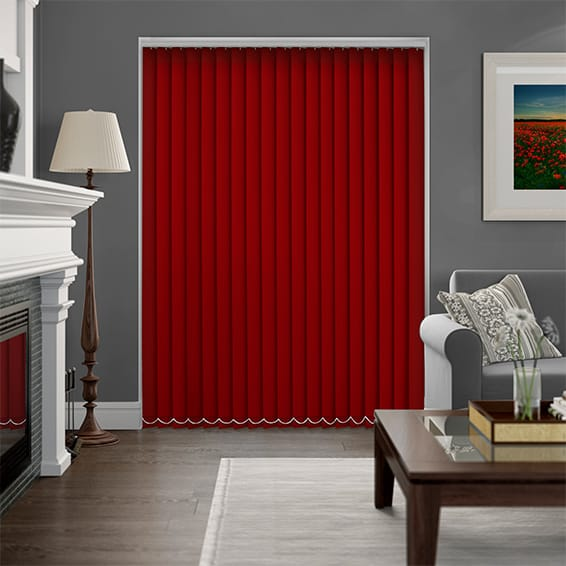 Sevilla Pepper Red  Vertical Blind