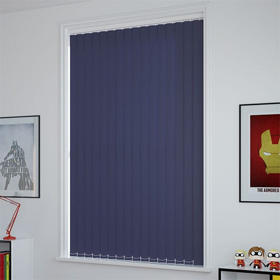 Sevilla Royal Blue Vertical Blind