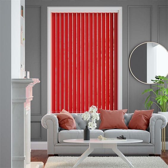 Sevilla Vivid Red Vertical Blind