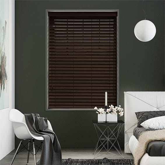 Sevillan Walnut Faux Wood Blind - 50mm Slat
